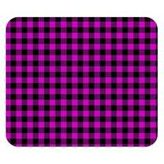 Lumberjack Fabric Pattern Pink Black Double Sided Flano Blanket (Small)