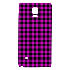 Lumberjack Fabric Pattern Pink Black Galaxy Note 4 Back Case