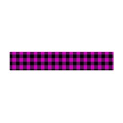 Lumberjack Fabric Pattern Pink Black Flano Scarf (Mini)