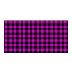Lumberjack Fabric Pattern Pink Black Satin Wrap