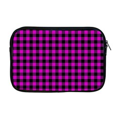Lumberjack Fabric Pattern Pink Black Apple Macbook Pro 17  Zipper Case