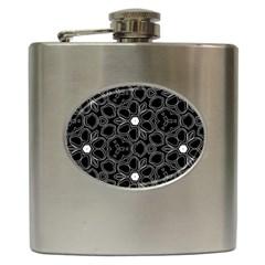 Floral pattern Hip Flask (6 oz)