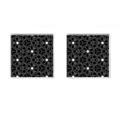 Floral pattern Cufflinks (Square)