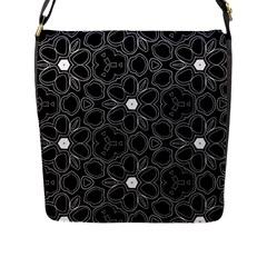 Floral pattern Flap Messenger Bag (L)
