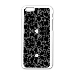 Floral pattern Apple iPhone 6/6S White Enamel Case
