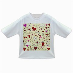 Valentinstag Love Hearts Pattern Red Yellow Infant/Toddler T-Shirts