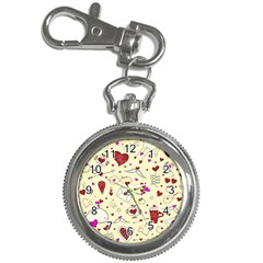 Valentinstag Love Hearts Pattern Red Yellow Key Chain Watches