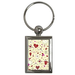 Valentinstag Love Hearts Pattern Red Yellow Key Chains (Rectangle)