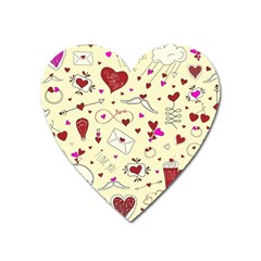 Valentinstag Love Hearts Pattern Red Yellow Heart Magnet