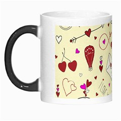 Valentinstag Love Hearts Pattern Red Yellow Morph Mugs