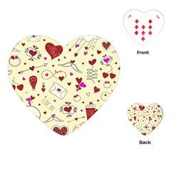 Valentinstag Love Hearts Pattern Red Yellow Playing Cards (Heart)