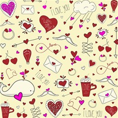 Valentinstag Love Hearts Pattern Red Yellow Canvas 16  x 16