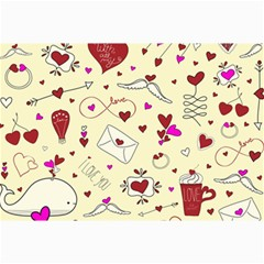Valentinstag Love Hearts Pattern Red Yellow Canvas 24  x 36