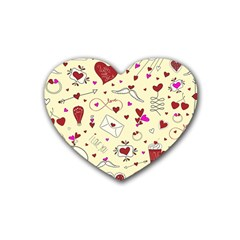 Valentinstag Love Hearts Pattern Red Yellow Heart Coaster (4 pack)