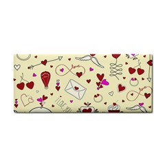 Valentinstag Love Hearts Pattern Red Yellow Cosmetic Storage Cases