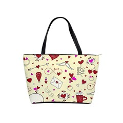 Valentinstag Love Hearts Pattern Red Yellow Shoulder Handbags