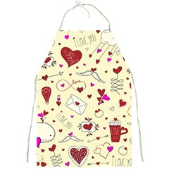 Valentinstag Love Hearts Pattern Red Yellow Full Print Aprons