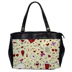 Valentinstag Love Hearts Pattern Red Yellow Office Handbags