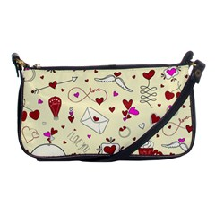 Valentinstag Love Hearts Pattern Red Yellow Shoulder Clutch Bags