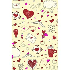 Valentinstag Love Hearts Pattern Red Yellow 5.5  x 8.5  Notebooks