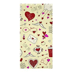 Valentinstag Love Hearts Pattern Red Yellow Shower Curtain 36  x 72  (Stall)