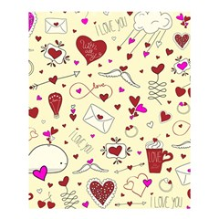 Valentinstag Love Hearts Pattern Red Yellow Shower Curtain 60  x 72  (Medium)