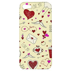 Valentinstag Love Hearts Pattern Red Yellow Apple iPhone 5 Hardshell Case