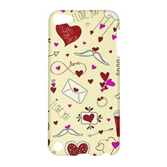 Valentinstag Love Hearts Pattern Red Yellow Apple iPod Touch 5 Hardshell Case