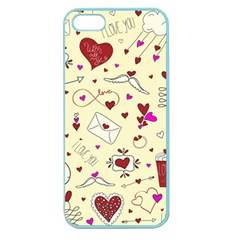 Valentinstag Love Hearts Pattern Red Yellow Apple Seamless iPhone 5 Case (Color)