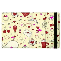 Valentinstag Love Hearts Pattern Red Yellow Apple iPad 3/4 Flip Case