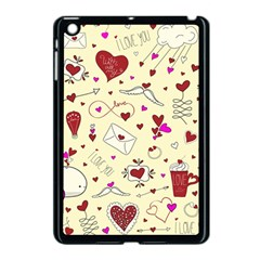 Valentinstag Love Hearts Pattern Red Yellow Apple iPad Mini Case (Black)