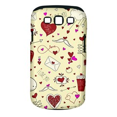 Valentinstag Love Hearts Pattern Red Yellow Samsung Galaxy S III Classic Hardshell Case (PC+Silicone)