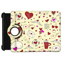 Valentinstag Love Hearts Pattern Red Yellow Kindle Fire HD 7