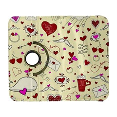 Valentinstag Love Hearts Pattern Red Yellow Galaxy S3 (Flip/Folio)