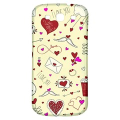 Valentinstag Love Hearts Pattern Red Yellow Samsung Galaxy S3 S III Classic Hardshell Back Case