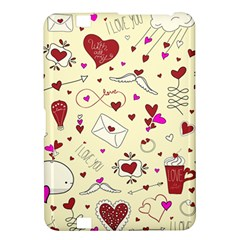 Valentinstag Love Hearts Pattern Red Yellow Kindle Fire HD 8.9