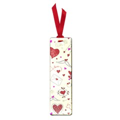Valentinstag Love Hearts Pattern Red Yellow Small Book Marks