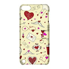 Valentinstag Love Hearts Pattern Red Yellow Apple iPod Touch 5 Hardshell Case with Stand