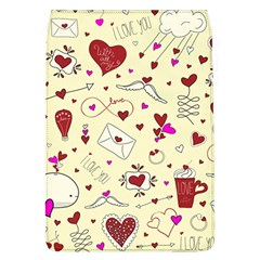 Valentinstag Love Hearts Pattern Red Yellow Flap Covers (L)