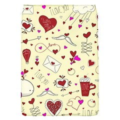 Valentinstag Love Hearts Pattern Red Yellow Flap Covers (S)