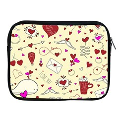 Valentinstag Love Hearts Pattern Red Yellow Apple iPad 2/3/4 Zipper Cases