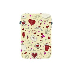 Valentinstag Love Hearts Pattern Red Yellow Apple iPad Mini Protective Soft Cases