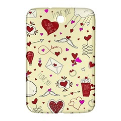 Valentinstag Love Hearts Pattern Red Yellow Samsung Galaxy Note 8.0 N5100 Hardshell Case