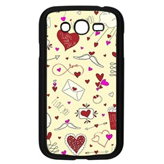 Valentinstag Love Hearts Pattern Red Yellow Samsung Galaxy Grand DUOS I9082 Case (Black)