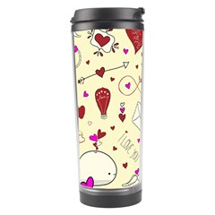Valentinstag Love Hearts Pattern Red Yellow Travel Tumbler