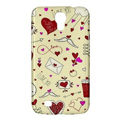 Valentinstag Love Hearts Pattern Red Yellow Samsung Galaxy Mega 6.3  I9200 Hardshell Case