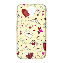 Valentinstag Love Hearts Pattern Red Yellow Samsung Galaxy S4 Classic Hardshell Case (PC+Silicone)