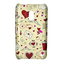 Valentinstag Love Hearts Pattern Red Yellow Nokia Lumia 620