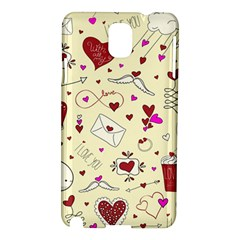 Valentinstag Love Hearts Pattern Red Yellow Samsung Galaxy Note 3 N9005 Hardshell Case