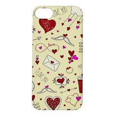 Valentinstag Love Hearts Pattern Red Yellow Apple iPhone 5S/ SE Hardshell Case